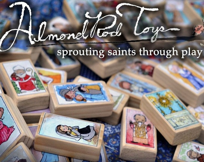 Newest 6 Saint Craft Sheets // 72 saints on 6 Sheets // Catholic DIY by AlmondRod Toys