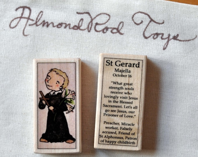 St Gerard Patron Saint Block // Catholic Toys by AlmondRod Toys