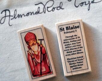 St Blaise Patron Saint Block // Catholic Toys by AlmondRod Toys