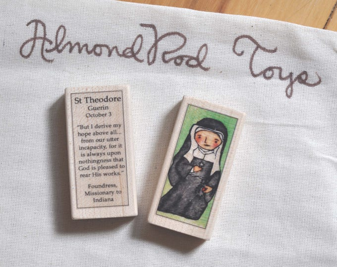 St Theodore Guerin Patron Saint Block // Catholic Toys by AlmondRod Toys