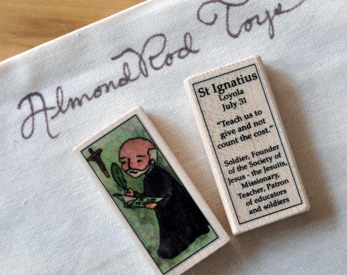 St Ignatius Loyola Patron Saint Block // Catholic Toys by AlmondRod Toys