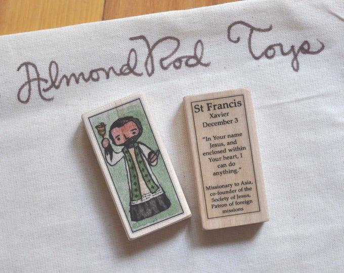 St Francis Xavier Patron Saint Block // Catholic Toys by AlmondRod Toys