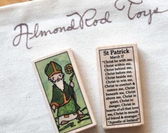 St Patrick Patron Saint Block // Catholic Toys by AlmondRod Toys