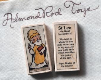 St Leo the Great Patron Saint Block // Pope // Catholic Toys by AlmondRod Toys
