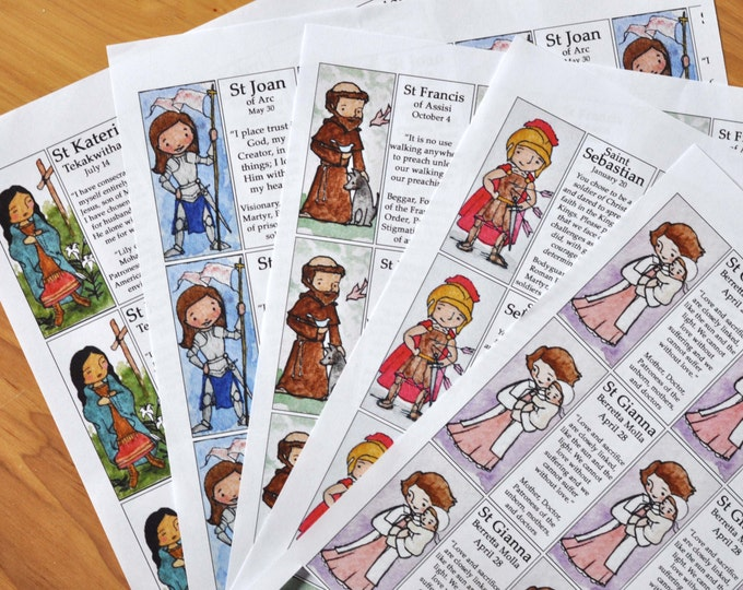 Saint Craft Sheet of your choice (100+ saints to choose from) // decoupage toys // Catechesis of the good shepherd