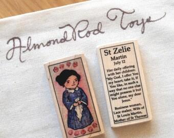 St Zelie Martin Patron Saint Block // Catholic Toys by AlmondRod Toys
