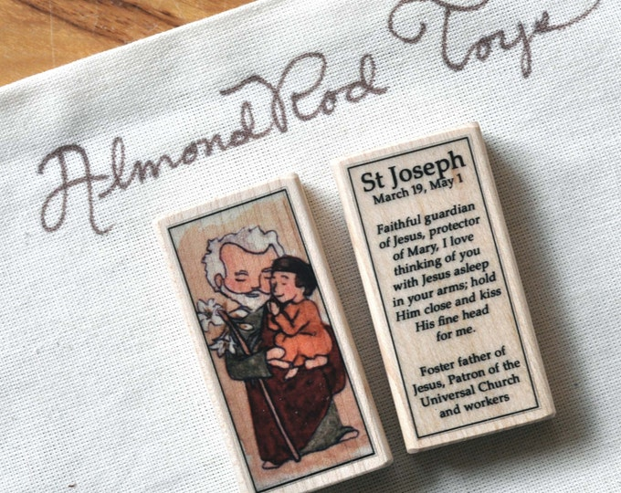 St Joseph Patron Saint Block // Catholic Toys by AlmondRod Toys