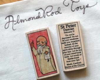 St Peter Damian Patron Saint Block // Catholic Toys by AlmondRod Toys