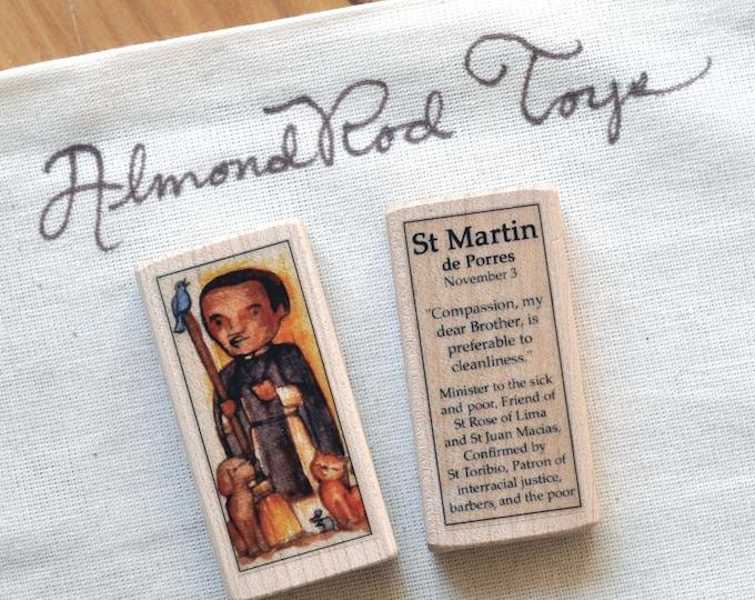 St Martin de Porres Patron Saint Block // Catholic Toys by AlmondRod Toys