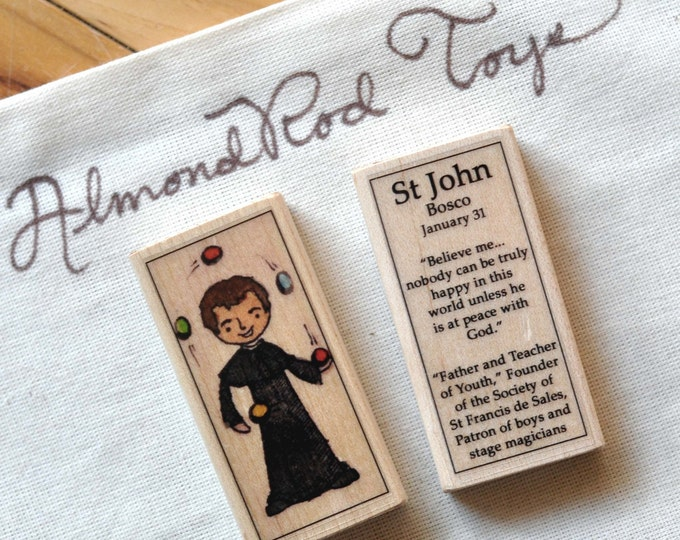 St John Bosco Patron Saint Block // patron of boys // Catholic Toys by AlmondRod Toys