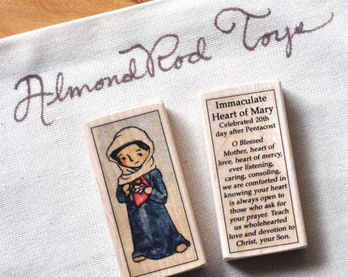 St Mary, Immaculate Heart Patron Saint Block // Catholic Toys by AlmondRod Toys