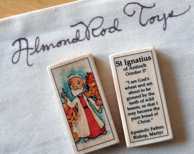 St Ignatius of Antioch Patron Saint Block // Catholic Toys by AlmondRod Toys