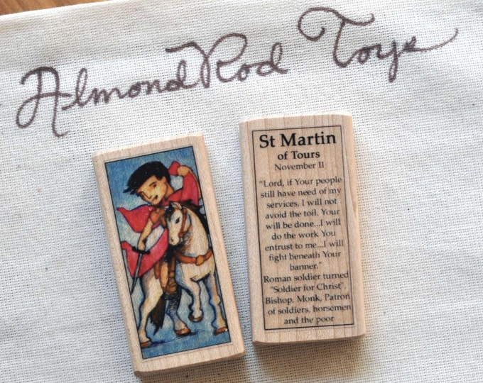 St Martin of Tours Patron Saint Block // Catholic Toys by AlmondRod Toys