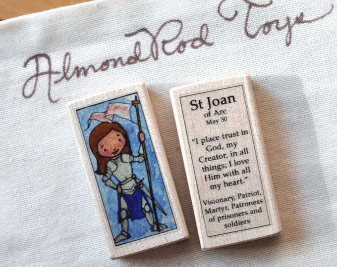 St Joan of Arc Patron Saint Block // Catholic Toys by AlmondRod Toys