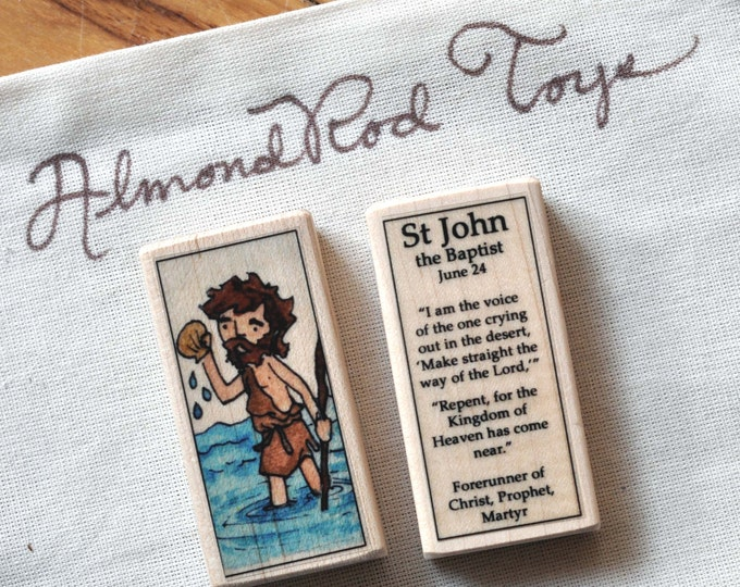 St John the Baptist Patron Saint Block // Catholic Toys by AlmondRod Toys