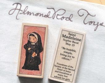 St Madeleine Sophie Barat Patron Saint Block // nun // Catholic Toys by AlmondRod Toys