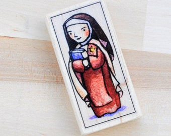St Teresa Benedicta Patron Saint Block // Edith Stein // Catholic Toys by AlmondRod Toys