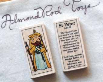 St Peter Patron Saint Block // Catholic Toys by AlmondRod Toys