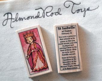 St Isabelle of France Patron Saint Block // Princess Saint // Catholic Toys by AlmondRod Toys