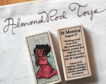 St Monica Patron Saint Block // Catholic Toys by AlmondRod Toys