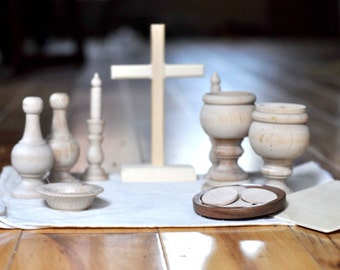 DIY Wooden Catholic Mass Kit Pieces // Catechesis of the Good Shepherd