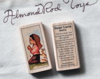 Sr Lucia Santos of Fatima Patron Saint Block // Catholic Toys by AlmondRod Toys