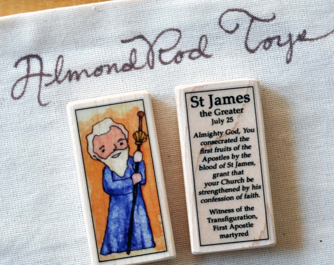 St James the Greater Patron Saint Block // disciple // Catholic Toys by AlmondRod Toys