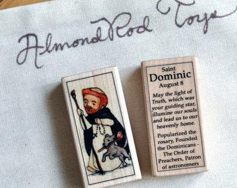 St Dominic Patron Saint Block // Catholic Toys by AlmondRod Toys