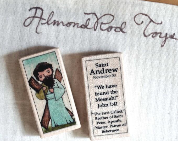 St Andrew Patron Saint Block // Catholic Toys by AlmondRod Toys