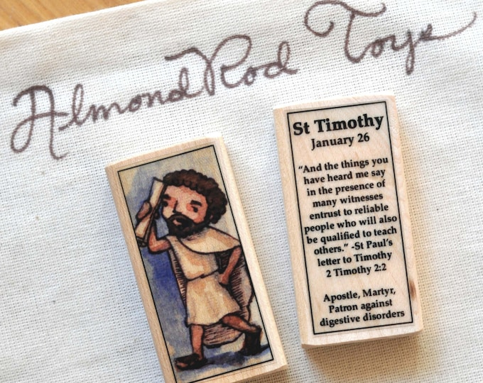 St Timothy Patron Saint Block // 100+ Catholic Saints to choose from // catholic boy