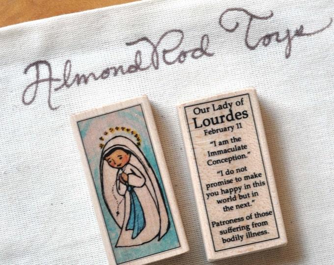 Our Lady of Lourdes Patron Saint Block // 100+ Catholic Saints to choose from // Catholic girl