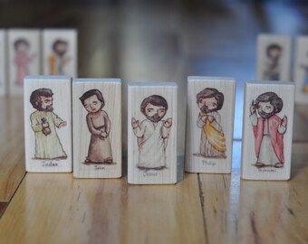 Last Supper Wood Blocks (Lord's Supper Toys) // Christian toys