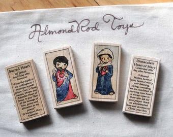 2 Catholic Saint Blocks of your choice // Catholic Gifts