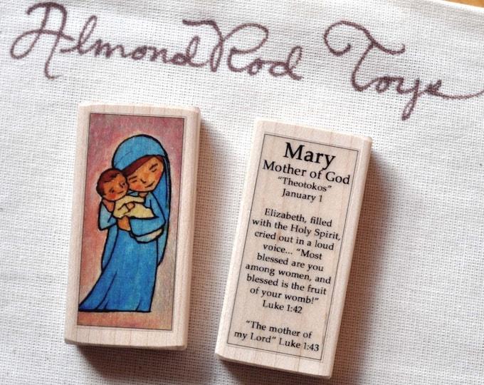 Mary, Mother of God Patron Saint Block