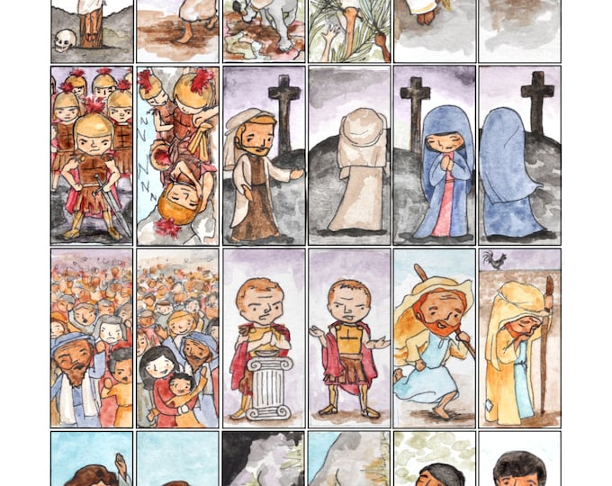 Easter and Lenten Craft Sheets 3 pages (artwork for 2 sets of blocks)
