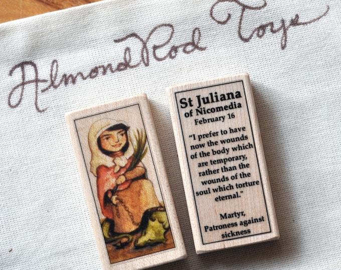 St Juliana of Nicomedia Patron Saint Block