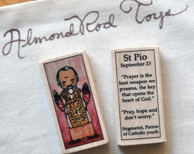 "St Pio Patron Saint Block - ""Padre Pio"""