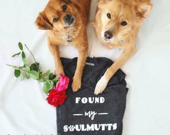 Found My Soulmutt Muscle Tank, Graphic Tank, Workout Top, Gift for Her, Gift for Dog Lover, I Love Dogs