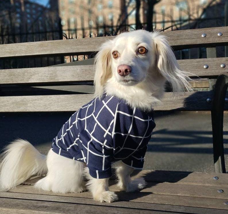 e46257ce7e0d SALE-Navy Checker Dog Shirt Dog Clothing Dog Outerwear Dog   Etsy