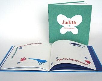 Illustrated guestbook. Personalized  album. Memory album. Friendship book