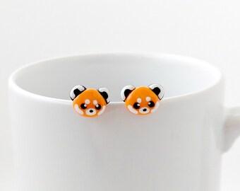 36b76815a Red Panda Stud Earrings Cute Red Panda Studs Red Panda Earrings