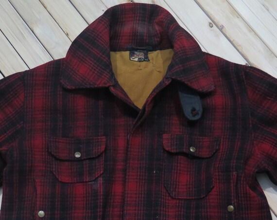 1950s Woolrich Mackinaw Jacket Field Coat Wool Jacket (46)