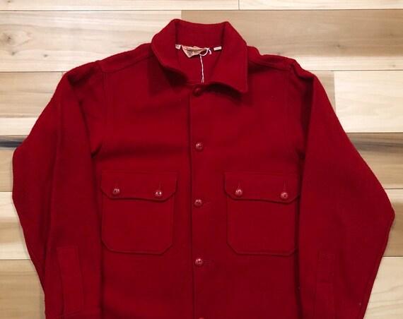 Woolrich Wool Shirt Boy Scouts of America Shirt Jacket 40
