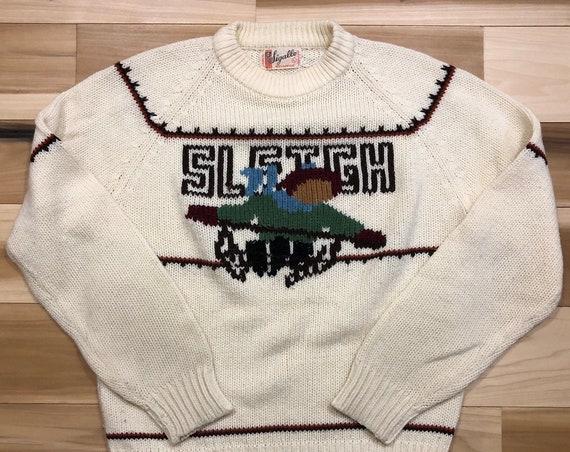 60s Ski Sweater Sleigh Sledding