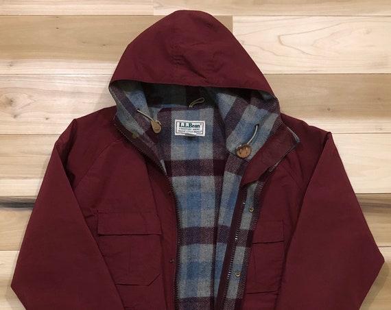 LL Bean Parka Baxter Park Jacket 60 40 Wool Lined