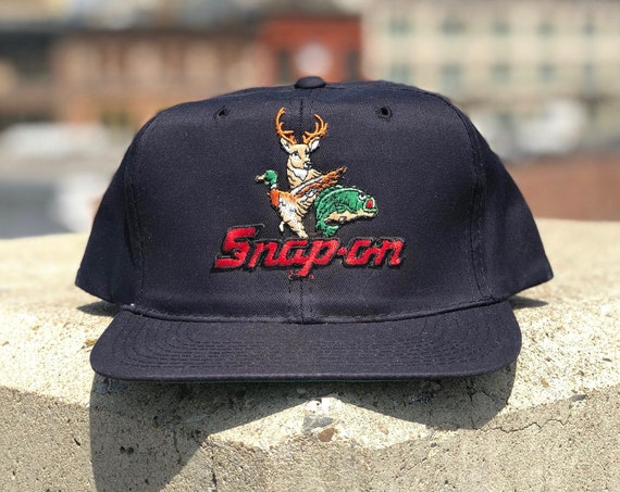 1980s Snap-on Hat Tools Buck Hunting Cap New Era Snapback Spell Out