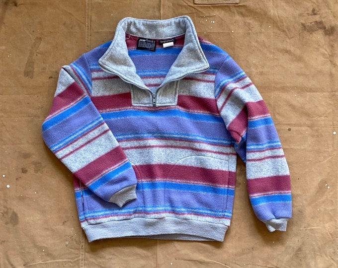 80s Stripe Fleece Pullover PolarFleece USA
