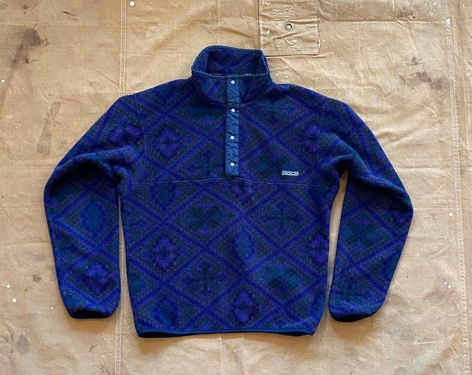 90s Patagonia Snap T Pattern Synchilla USA FA92