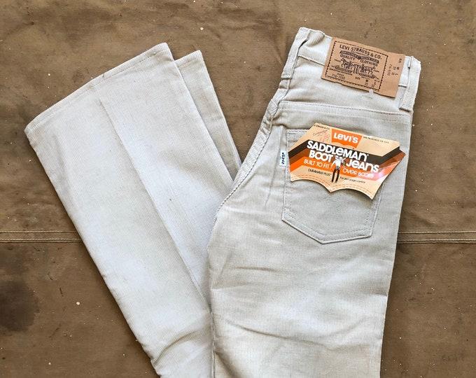 80s Levi's 716 Saddleman Jeans Corduroy 25 Waist
