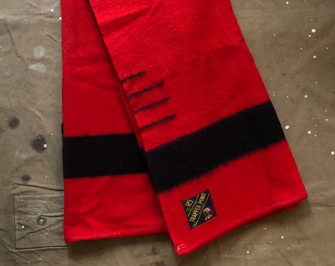 1950s Point Blanket Trapper Red Stripe 3.5